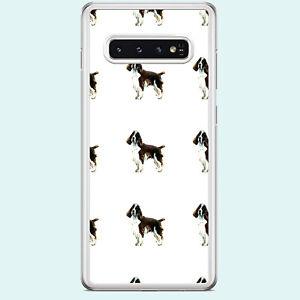 WATERCOLOUR SPANIEL DOG PRINT  CLEAR RIM PHONE CASE FITS SAMSUNG GALAXY S RANGE.