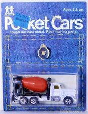 Tomica Pocket Cars #F63 American (Peterbilt) Cement Truck White MOC 1:98