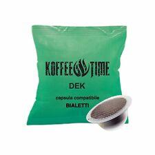 100 CAPSULE COMPATIBILI BIALETTI DECAFFEINATO, CAFFE' KOFFEE TIME   MOKONA CUORE