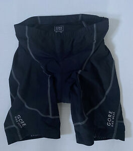 Gore Bike-wear Men's Black Padded Cycling Shorts Size XL nylon Elastane