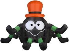 6' Airblown Spider with Orange Hat Halloween Inflatable