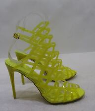 "Shiekh yellow  4.5""Stiletto high heel peep toe WOMEN'S STUNNING SANDAL  Size 10"