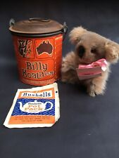 Vintage Tin Billy Koala Esq Complete With Contents Rare Advertising