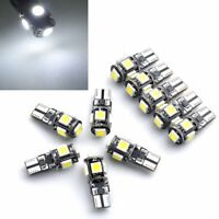 10 X T10 W5W LAMPADE LUCI POSIZIONE CANBUS AUTO 5 LED 5050 SMD