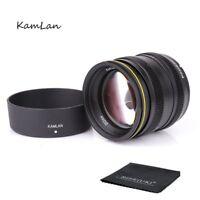Kamlan 50mm F1.1 APS-C Manual Focus Lens For Sony E-Mount NEX3 5 6 7 A5000 A6100