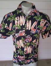 Mickey Mouse Disney Catalog Surfboards Woodys 100% Rayon Hawaiian Shirt Men's sm