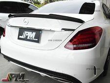 2015 W205 New C-Class C250 C300 C400 C450 V Style Carbon Fiber Trunk Spoiler Lip
