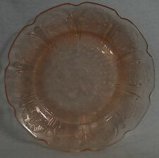 JEANNETTE Glass CHERRY BLOSSOM PINK pattern Bread Plate - 6""