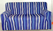COPRIDIVANO 2 posti x divano tessuto liscio maiori cm 160  azzurro
