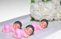 """12 PCS SLEEPING  BABY SHOWER FAVORS RECUERDOS DECORATIONS 3"""" GIFTS PINK GIRL"""