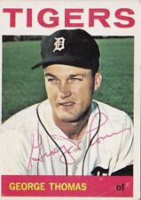 George Thomas Detroit Tigers 1964 Topps Autographed Baseball Card W/COA