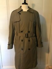 Mens L XL 40R DSCP Valor Collection Military Green Trench Coat All Weather Liner