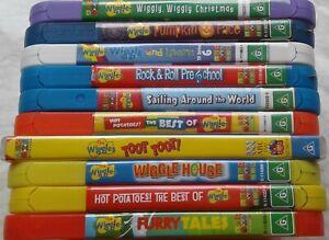 THE WIGGLES - BULK LOT -  10 Original Australian Pressing DVDs  THE WIGGLES