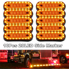 10x Trailer LED Light Amber 24V LED Side Marker Light Indicators RV Camper Truck