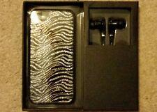 Design by Prestigex iPhone 5 case Glitter Zebra print w/headphones (NIB) MSRP$39