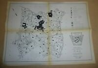 Vintage Pennsylvania Game Commission Hunting Map Of Pike County PA