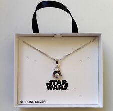 STAR WARS DARTH VADER STERLING SILVER PENDENT NECKLACE
