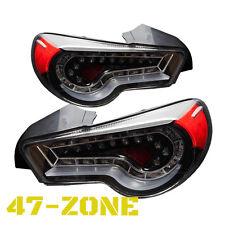 High Quality Black Clear lens Led Tail Lights fit 12 up Scion FR-S Subaru BRZ