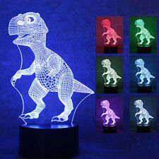 Color Changing Touch Switch Dinosaur Shape 3D Illusion LED Night Light Kids Gift