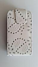 Handy Tasche Flip Case für HTC Salsa (G15) in Weiß / Tasche, Schutzhülle, Cover