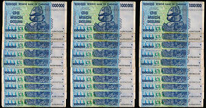 30 x 1 Million Zimbabwe Dollars Banknotes AA AB 2008 [30PCS] Currency Bundle Lot