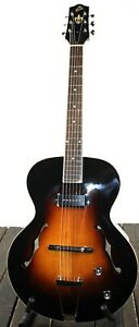 The Loar LH-309-VS Archtop Hollowbody P-90 Acoustic Electric Guitar #R8720