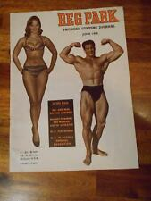 REG PARK Physical Culture Journal muscle bodybuilding magazine 6-58