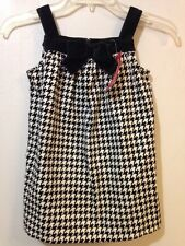 "Gymboree ""Holiday Friends"" 5T Houndstooth Dress Velour NWT"