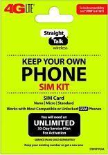 Bring your own Phone - Straight Talk (Byop) Triple-Cut Sim Kit (Gsm)