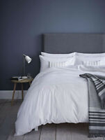 Catherine Lansfield Pom Pom Embellished Single Duvet Set White