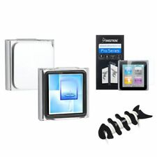 Clear Crystal Hard Case Cover+LCD Shield+Headset Wrap For iPod Nano 6 6G 6th Gen