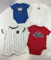 Carters Baby Boys Lot Of 4 Short Sleeve Bodysuits Multicolor Size 6 Months NWT #