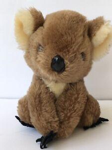 "Vintage 1978 R. Dakin KOALA BEAR Plush Nutshells Stuffed Tan Brown Brown 6"""