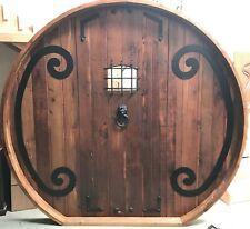 Rustic reclaimed lumber arched top door solid wood story book castle HOBBIT