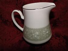 Mikasa Chapel 5764, Green Border, Platinum Trim: Creamer