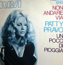 """PATTY PRAVO 7""""  NON ANDARE VIA ( PAOLI - BREL ) CANTORI MODERNI - ITALY 1970"""