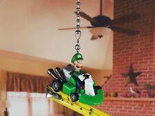 Takara Nintendo Super Mario Bros Luigi Ceiling Fan Pull Light Lamp Chain K1335 E
