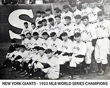1933 NEW YORK GIANTS NY 8X10 TEAM PHOTO BASEBALL PICTURE MLB WORLD SERIES CHAMPS