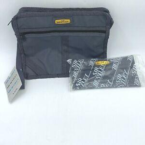 Vintage Sir Bentley Travel Shaving Bag Toiletry Cosmetic and Wallet Nylon NOS PB