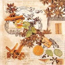 4x Tovaglioli di carta per Decoupage Decopatch Craft Inverno odori