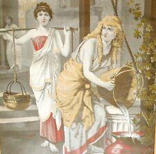 peinture sur soie thème antique femmes au puits