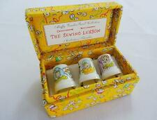 More details for muffy vander bear collection collectors thimbles set vintage boxed sewing x3