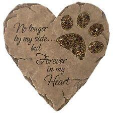 New Pet Dog Cat Paw Print Stepping Stone Grave Memorial Heart Plaque Garden