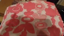 Pottery Barn teen full sheet flat pink  flower floral New wo tag
