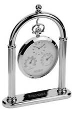 Open Face Chrome Pocket Watches with 12-Hour Dial