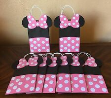 Minnie Mouse Pink Polka Dots Party Favors Goo Bags Set Of 12