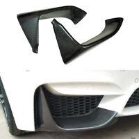Pair Carbon Fiber Front Bumper Lip Body Kit Spoiler Fit For BMW F80 M3 F82 M4