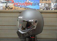 Simpson M30 Carbon Bandit Satin Black Motorcycle Helmet SIZE MEDIUM