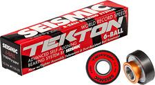 Seismic Tekton 8mm 6-Ball Skateboard Longboard Pro Bearings