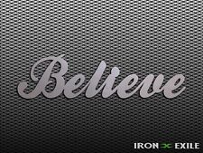 BELIEVE -- Metal Inspirational Word Wall Art Sign Home Decor Plasma Cut Country